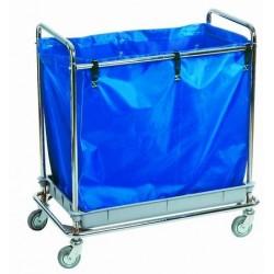 Carro recogida y transporte de ropa bandeja soporte cromado