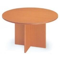 Mesa juntas Serena redonda patas en cruz 120 cm.