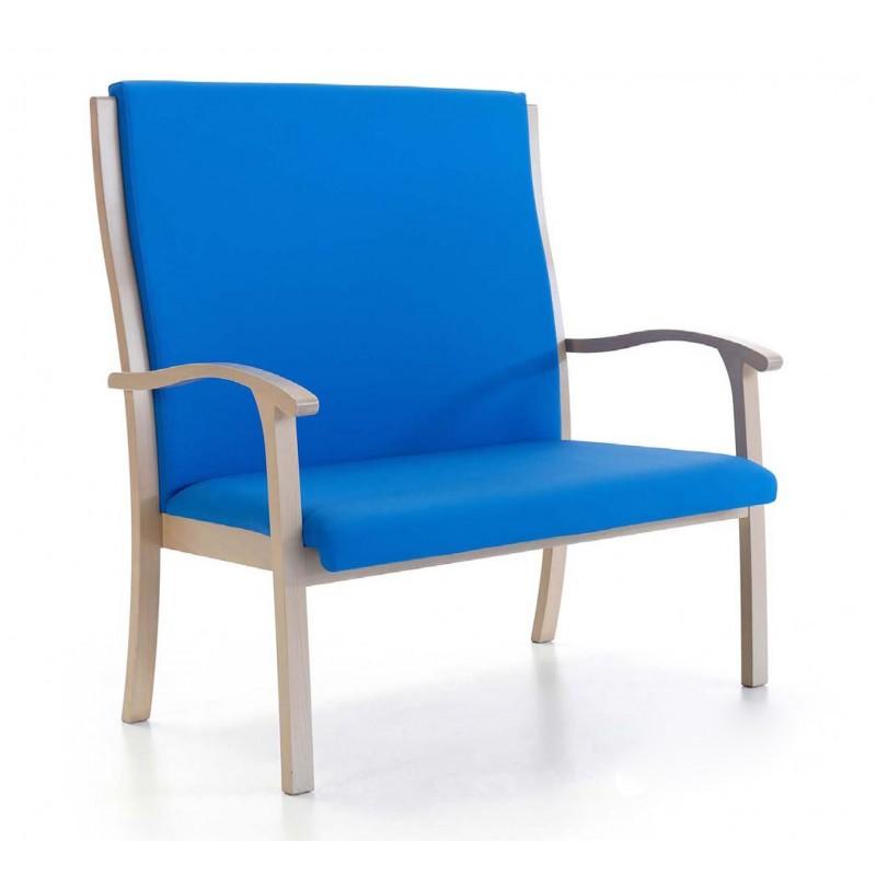 Sill n ergon mico sillon respaldo alto dos plazas sillon for Mobiliario ergonomico