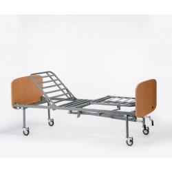 Cama Sonata manual altura fija con ruedas lecho metal, cabecero y piecero Sabrine