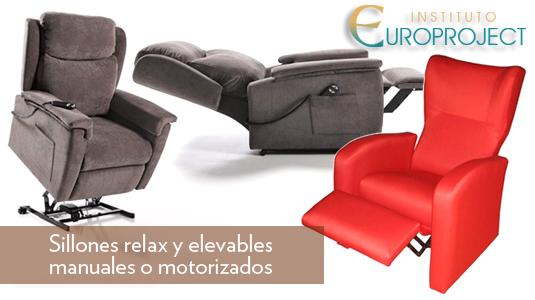 Sillones relax y elevables manuales o motorizados