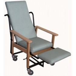 Sillón geriátrico reposapiernas abatible y traslado