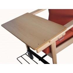 Mesa bandeja para sillón brazos rectos