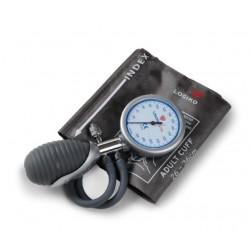Tensiómetro aneroide palmar doble tubo manómetro y pera en una pieza