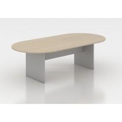 Mesa de juntas ovalada Serena 180 x 120 cm.