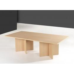 Mesa juntas recta Serena patas en cruz 180 x 120 cm.