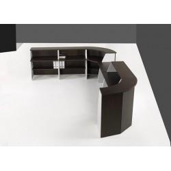 Mueble recepción curvo