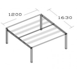 Plano de trabajo Multiplus 120 x 163 cm.