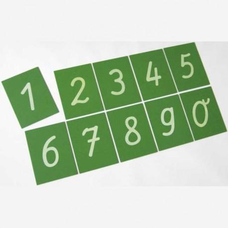 Tarjetas táctiles números