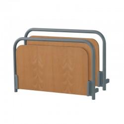 Cabecero y piecero Nadine metal y madera color haya