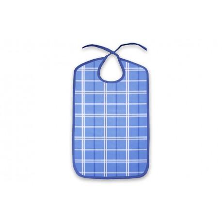 Babero azul estampado absorbente 3 capas impermeable