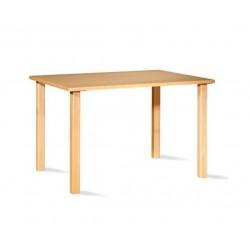 Mesa rectangular en haya 90X120 cm comedor lectura o terapia