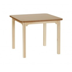 Mesa rectangular en haya 90X140 cm comedor lectura o terapia