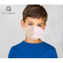 Mascarilla higiénica para niños UNE 0065 reutilizable y lavable