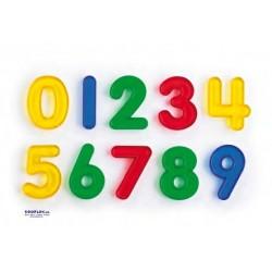 Números Colores Transparentes