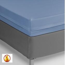 Funda colchón PU sanitized impermeable ignífuga celeste 90cm