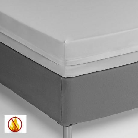 Funda colchón PU sanitized impermeable ignífuga blanca 90cm