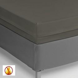 Funda colchón PU sanitized impermeable ignífuga gris 90cm