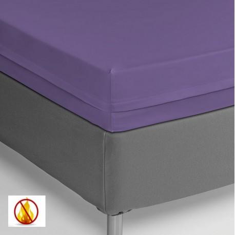 Funda colchón PU sanitized impermeable ignífuga lila 90cm