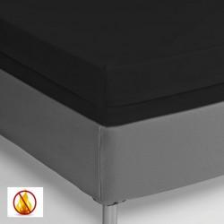 Funda colchón PU sanitized impermeable ignífuga negra 90cm