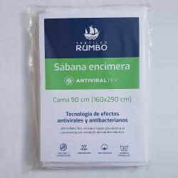 Sábana encimera AntiviralTex percal Algodón de 150 hilos