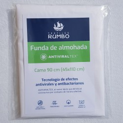 Funda de almohada AntiviralTex percal Algodón de 150 hilos
